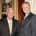 Dave Fischer, Executive Board member of ARPO and a Retired NYPD Pictured With Chief Kevin Smith, Chief of Detectives NYPD